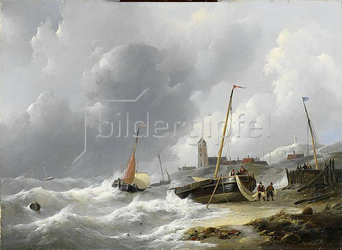 Jan Christian Schotel: Katwijk. Um 1830