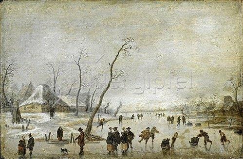 Antoni Verstralen: Winterlandschaft. Um 1635/40