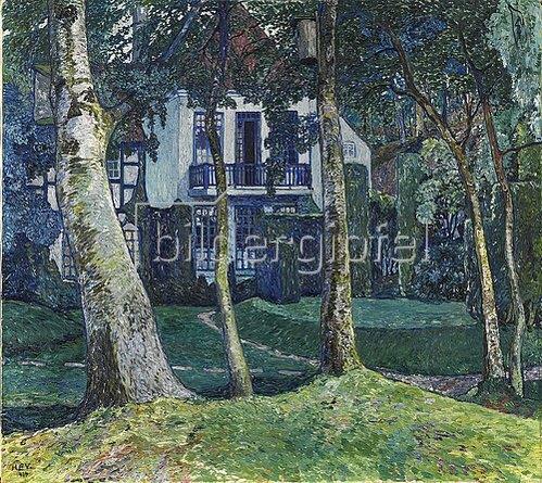 Heinrich Vogeler: Die blaue Stunde (Barkenhoff). 1914
