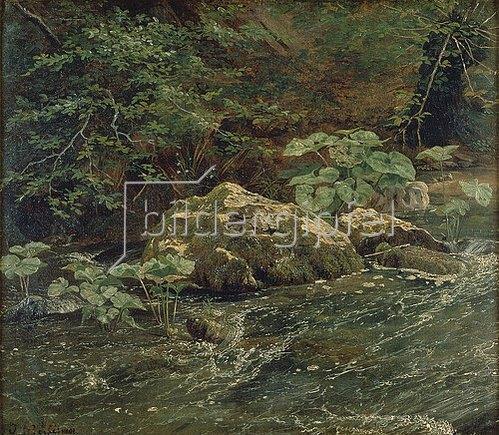 Johann Wilhelm Schirmer: Bachrand im 'Gesteins'. Wohl 1827-30