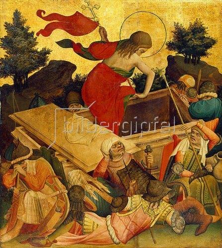 Meister Francke: Thomas-Altar, 1424-1436. Auferstehung Christi.