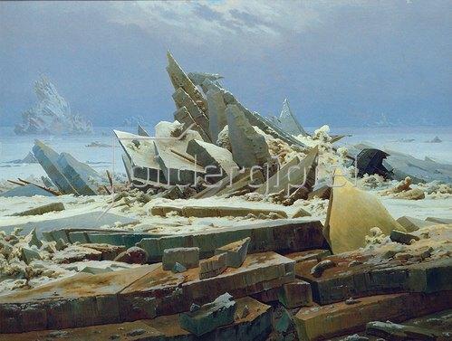 Caspar David Friedrich: Das Eismeer (Die gescheiterte Hoffnung). Um 1823/24