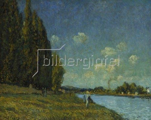 Alfred Sisley: Landschaft an der Seine. 1879