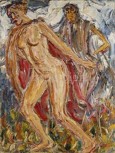 Christian Rohlfs: Verfolgung (Der Tod und das Mädchen). Um 1911