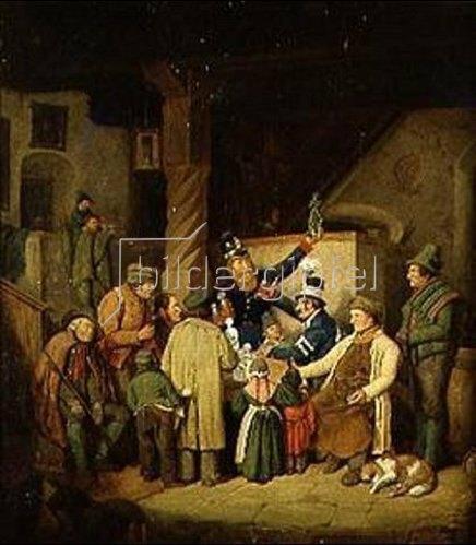 Hans Kransberger: Der Auktionar. 1840.