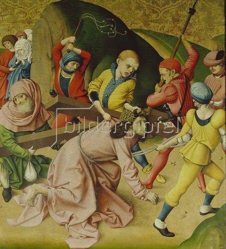 Rueland Frueauf d.Ä.: Passionsaltar. Um 1470/1480. Kreuztragung Christi.