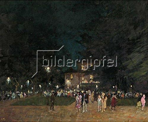 Charles Vetter: München, im Englischen Garten am Chinesischen Turm.  1932.