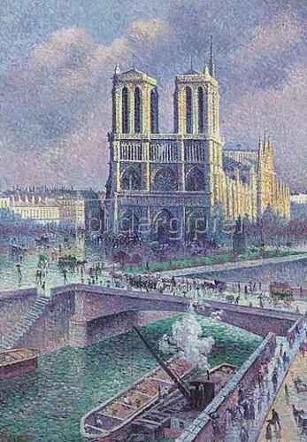 Maximilien Luce: Notre Dame, Paris. 1900