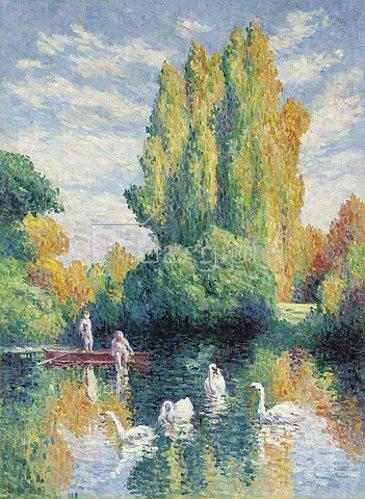 Maximilien Luce: Pappeln, Herbst. 1907