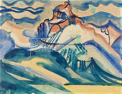 August Babberger: Küstenlandschaft. Um 1919