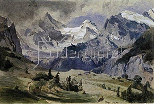 Emil Lugo: Wengernalp. 1881.