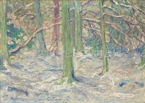 Franz Marc: Verschneiter Wald. 1909