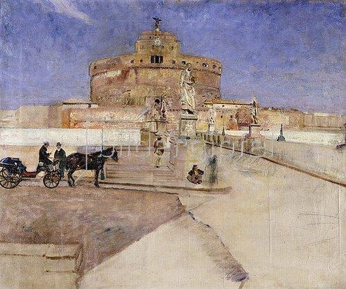 Eilif Peterssen: Die Engelsburg in Rom. 1896