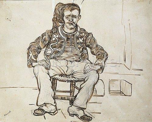 Vincent van Gogh: Sitzender Zuave. 1888