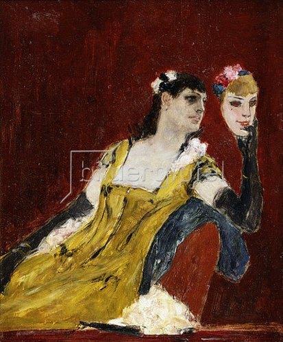 Felicien Rops: Frau mit einer Maske. Um 1888