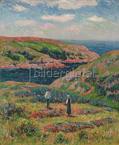 Henri Moret: Die Steilküste von Clohars, Finistère. Um 1910