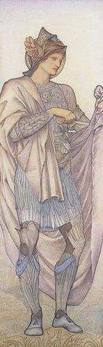 Sir Edward Burne-Jones: St. Martin. 1880 (Ein Entwurf für Morris & Co für die Figur des Hl. Martin für ein Glasfenster in St. Martin's Church, Brompton, Cumberland)