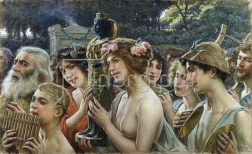 Cesare Saccaggi: Prozession zu Ehren der Mutter Natur.