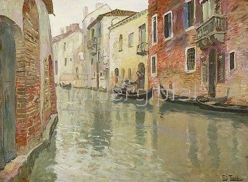 Frits Thaulow: Ein venezianischer Kanal.