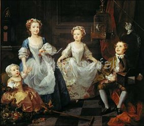 William Hogarth: Die Graham-Kinder. 1742.