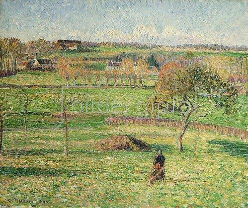 Camille Pissarro: Felder im Herbst bei Bazincourt. 1894