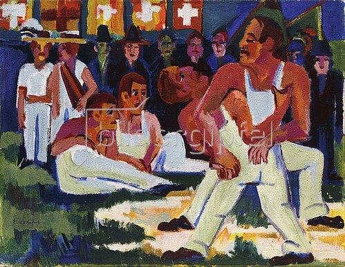 Ernst Ludwig Kirchner: Ringer. 1923