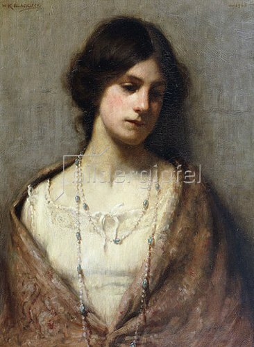 William Kay Blacklock: Halbportrait einer Dame. 1905