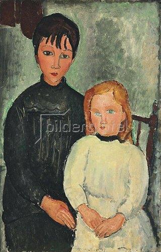 Amadeo Modigliani: Die beiden Mädchen. 1918