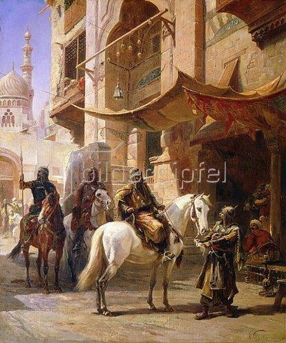 Paul Dominique Philippoteaux: Arabische Krieger.