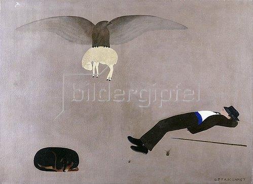 Guy-Pierre Fauconnet: Der schlafende Hirte. Um 1915-20