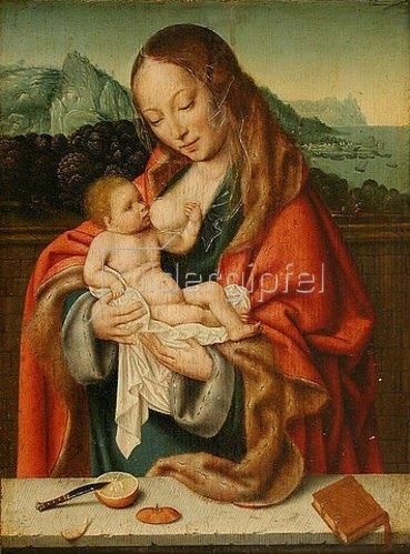 Joos van der Beke van Cleve: Madonna mit Kind.