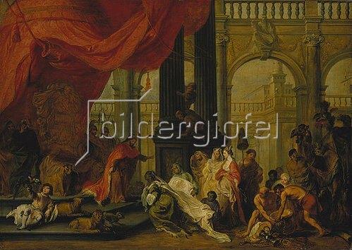 Balthasar Beschey: Salomo und die Königin von Saba.