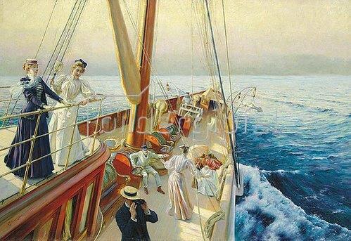 Julius Leblanc Stewart: Yachtausflug im Mittelmeer. 1896