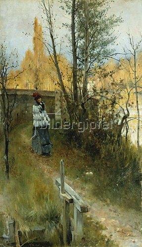 Carl Larsson: Herbst (Karin I Grez (Hostmotiv)). 1884