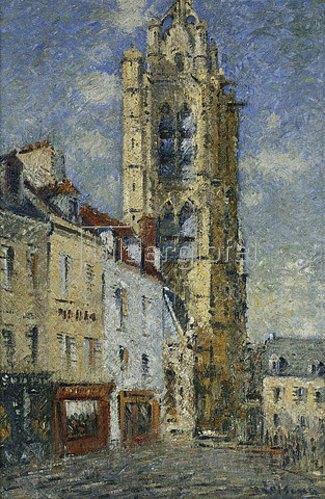 Gustave Loiseau: Der Glockenturm von St. Maclou. 1925