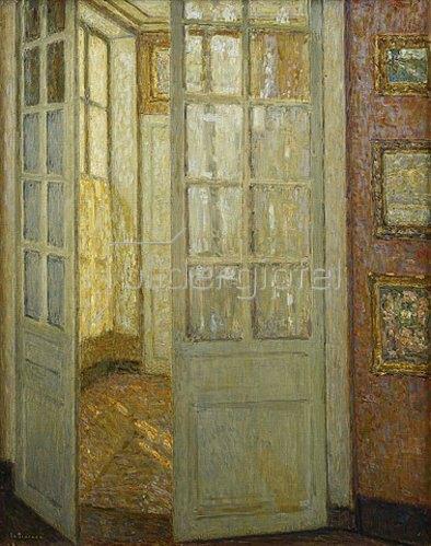 Henri Le Sidaner: Goldenes Licht, Versailles. 1930