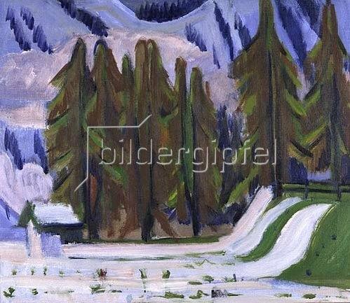Ernst Ludwig Kirchner: Der erste Schnee. 1921-23