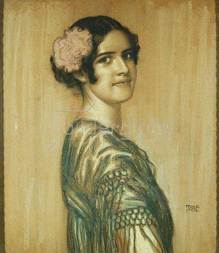 Franz von Stuck: Mary, die Tochter des Malers als Spanierin.