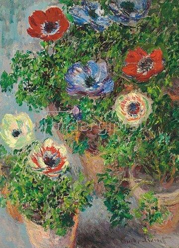 Claude Monet: Anemonen in einer Vase. 1885