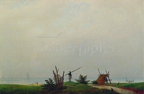 Caspar David Friedrich: Meeresstrand mit Fischer. 1807
