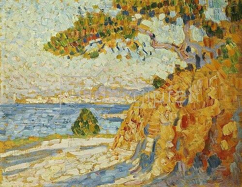 Theo van Rysselberghe: Landschaft in der Mittagssonne. Um 1895
