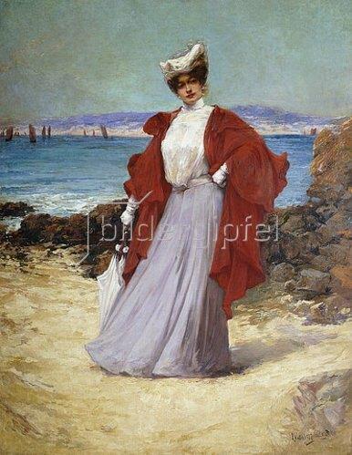 Alexandre Charles Masson: Eine Dame an der Küste.