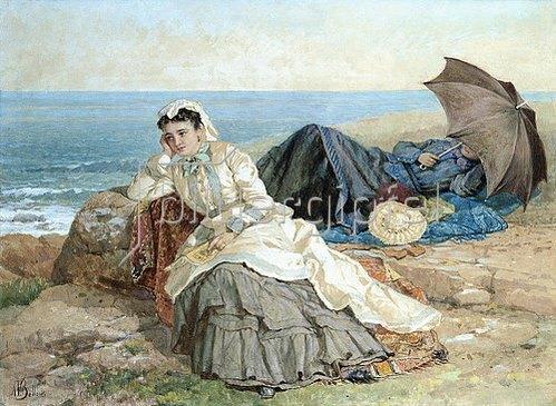 Albert Fitch Bellows: Gedankenvolle Blicke aufs Meer.