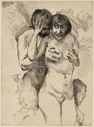 Lovis Corinth: Faun und Nymphe. 1914