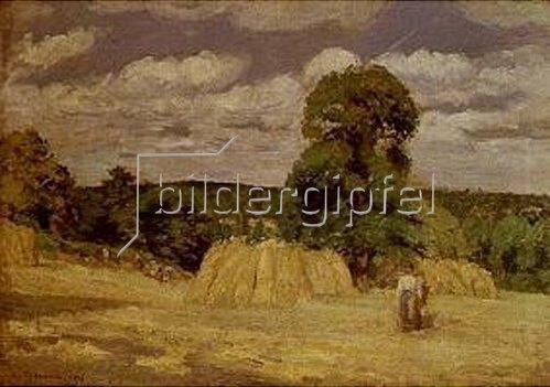 Camille Pissarro: La Moisson a Montfoucault. 1876.