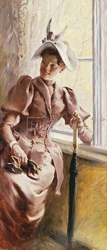 Paul Fischer: Dame am Fenster. 1892