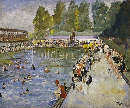 Sir John Lavery: Im Schwimmbad (Chiswick Baths). 1929