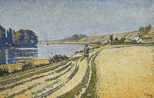 Paul Signac: Herblay - La Rive. 1889