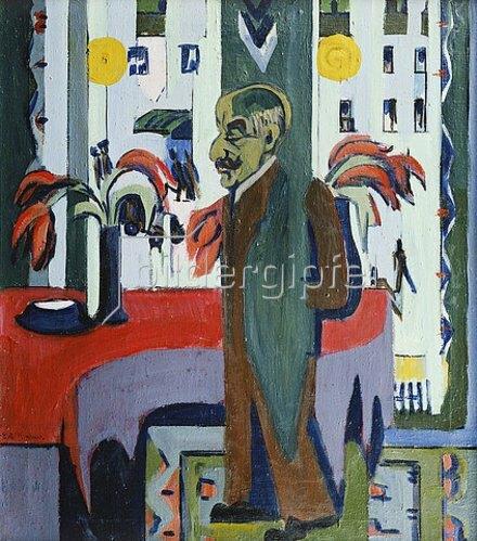 Ernst Ludwig Kirchner: Max Liebermann in seinem Atelier. 1926