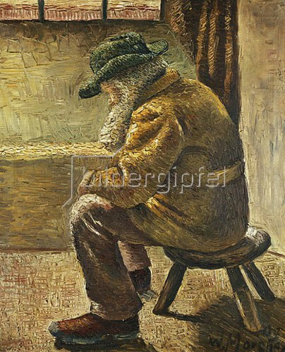 Wilhelm Morgner: Sitzende Figur. 1909